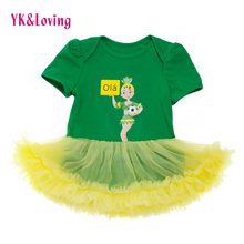 Baby Romper Dresses Cheerleader Soccer Jersey Games Clothes Newborn Girls Tutu Dress For Kids 0-2T Brazil Tracksuits Clothing(China)
