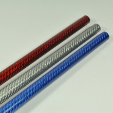 2pcs 3K Color Carbon Fiber Tube 10x8x500mm 3 Colors To Pick (Red / Silver/ Blue)(China)