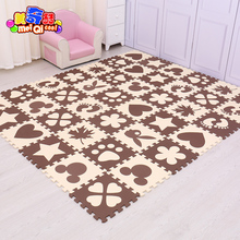 New Arrival 30*30cm 9/18/24pcs Puzzle Carpet Baby Play Mat Floor Puzzle Mat EVA Children Foam Carpet Mosaic floor Baby Crawl Toy(China)