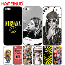HAMEINUO Nirvana Kurt Cobain cell phone Cover case for iphone 6 4 4s 5 5s SE 5c 6 6s 7 8 plus case for iphone 7 X(China)
