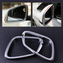 CITALL ABS Matte Chrome Plated Rear View Door Mirror Frame Rearview Cover Trim Rims for BMW F45 F46 2 Series 218i 2014 2015 2016(China)