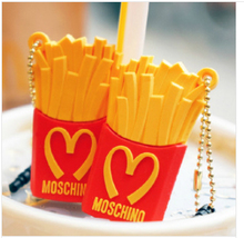$10 free shipping silicone Mcdonald's fries anti dust plug for cell phone/cute universal 3.5mm chips ear jack headphone cap