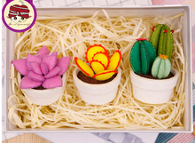 Meng plant plants potted Fabric Felt kit Non-woven cloth Craft DIY Sewing set Felt Handwork Material DIY needlework supplies(China)