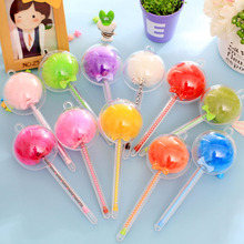 Cute Mini 0.38mm Plastic Gel Pens Colorful Plush Pen Fountain Signing Black Ink Color Pen Office School Pencil Stationery(China)