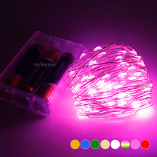 1set 2M 5M 10M Powered by 3AA Battery Decorative LED Copper Wire Fairy String Lights for Christmas Holiday Wedding and Parties(China)