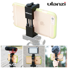 Ulanzi Phone Tripod Adapter Aluminum Metel Smartphone Tripod Mount With Cold Shoe +Led Light/Handle Rig for iPhone Smartphones(China)