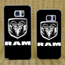 B0985 Dodge Ram Pickup Transparent Hard PC Case Cover For Samsung Galaxy S 3 4 5 6 7 Mini Edge Plus Note 3 4 5 7