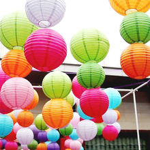 wholesale 50Pc 10cm Colorful Paper Lantern Lamps Festival Wedding New Year  favors and gift Christmas Decor Party supplies,Q