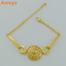 Anniyo Turkish Coin Bracelet for Women Gold Color Coin Hand Chain Arab Jewelry Ottoman Items #004911(China)