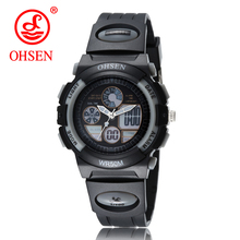 OHSEN Boys Kids Children Digital Sport Watch Alarm Date Chronograph LED Back Light Waterproof Wristwatch Gift For Student Clock(China)