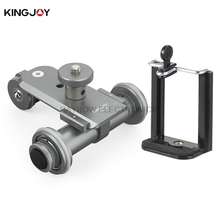Kingjoy brand PPL-06 electric 3 Wheels Video  Car camera tripod parts professional manufacturer for dslr mirrorless gopro camera