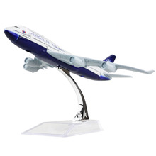 Mongolia Airlines Boeing 747 16cm airplane models child Birthday gift plane models toys Free Shipping(China)