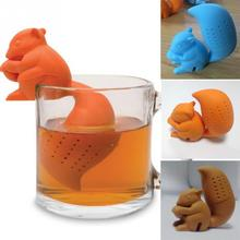 New arrival Squirrel Shape Tea Infuser Loose Leaf Strainer Bag Mug Filter Friends Applied