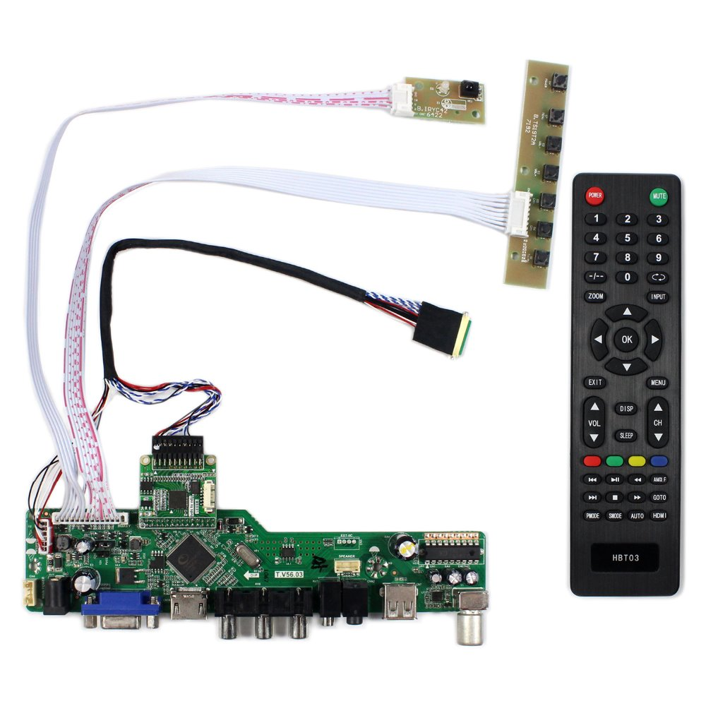 TV HDMI VGA AV USB LCD Controller Board For 15.6 B156HAN01.2 1920x1080 IPS LCD Screen<br>