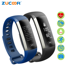 ZUCOOR Smart Bracelet Pulse Monitor Blood Pressure RB46 band Fitness Pedometer Activity Tracker Electronics Touchscreen Watch(China)