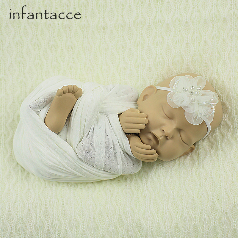 newborn photography props backdrops blanket+wrap+headband set, baby photo props wraps blankets hair accessories hairband cocoon<br>