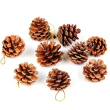 Hoomall 9PCs Pine Cone Christmas Pendant Drop Ornaments Home Decoration For The New Year Wedding Christmas Tree DIY 2017 New