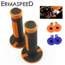 "7/8"" 22mm Motorcycle Hand Grips Handle Rubber Bar Gel Grip Orange Modified Accessory for KTM Duke 125 200 390 690 990 EXC SMC(China)"