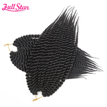 "Full Star Mambo Twist Crochet Braids Synthetic Hair 1 pack 80g 12"" Black Ombre Brown 12 Roots African Hair Extensions(China)"