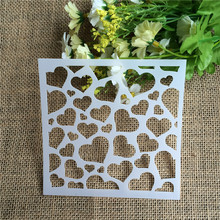 Sweet Heart Scrapbooking Tool Card DIY Album Masking Spray Painted Template Drawing Stencils Laser Cut Templates(China)
