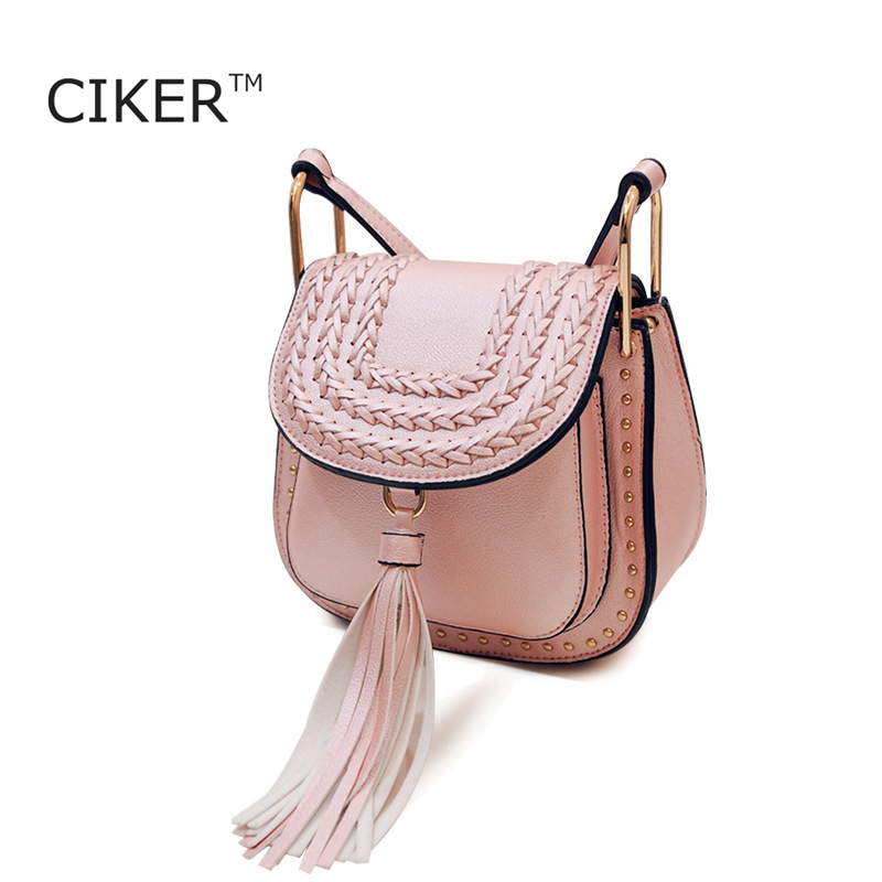 CIKER Famous Brands Ladies Bag Fashion Designer Handbags High Quality Bolsas Femininas Vintage Tassel Rivet Women Messenger Bags<br><br>Aliexpress