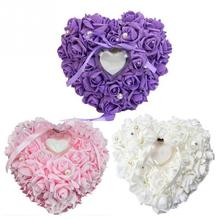 9 Colors Ring Pillow Wedding Favors Heart Shaped Gift Ring Box Ring Pillow Good Quality Western-style Wedding Ring Pillow