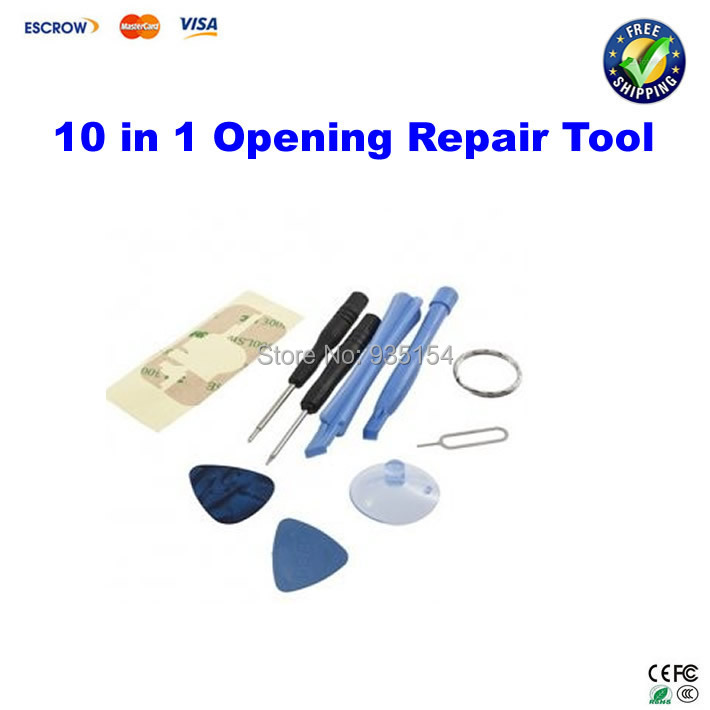 10 in 1 Opening Repair Tool Kit Set Screen Replacement For iPhone 4 4G<br><br>Aliexpress