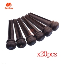 20pcs with Brass Circle  Guitar Pressure String Nails Pin Acoustic Guitar Bridge Ebony Pins with Good Material