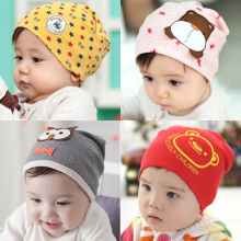Retail 1-3 years old boys and girls summer spring baby hats,21 colors cotton animal printed infant caps kids knitted cap