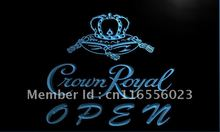 LA049- Crown Royal Beer OPEN Sign   LED Neon Light Sign     home decor  crafts