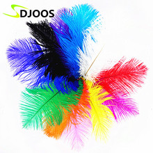 50PCS 15-20cm Naturelles White Ostrich Feathers Bulk Colourful Feathers For Sale Crafts Decoration Centerpieces Fringing Wedding(China)