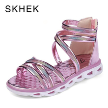 Buy SKHEK High-top Fashion Roman Girls Sandals Children Summer Shoes Kids Gladiator Sandals Toddler Brand Baby Sandals for $10.79 in AliExpress store