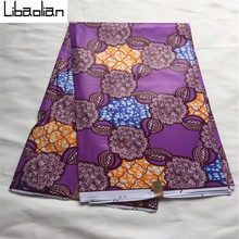 Top Quality!African Java Wax purple pattern african wax print clothing fabric 6yds/ps wholesale super java prints fabric B079-17(China)