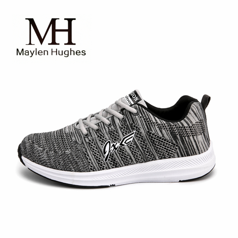 Sneakers men 2018 new lace breathable flywire mesh walking shoes outdoor non-slip male sport shoes size 39-44