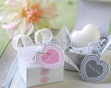 10 pcs White heart wedding soap favor present wedding souvenirs baby shower favor gifts wedding supplies