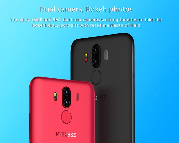 M-HORSE PURE 3 4GB RAM 64GB ROM Helio P23 MTK6763 2.0GHz Octa Core 5.7 Inch IPS Full Screen Quad Camera Android 7.1 4G LTE Smartphone