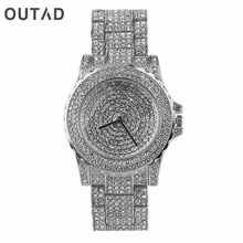 OUTAD Luxury Women's Watch Rhinestone Bling Crystal Analog Quartz Wrist Watches Metal Crafts Party Items relogio masculino Gift(China)