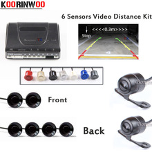 Video Car parking Sensor 6 Video Distance Front camera Auto Rearview camera Parktronic System kit Reverse radar Jalousie for car