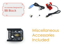 Beagle Bone Black Accessories Pack E=Beagle Bone Black Expansion CAPE MISC Cape + USB WIFI + Camera+Power Adapter