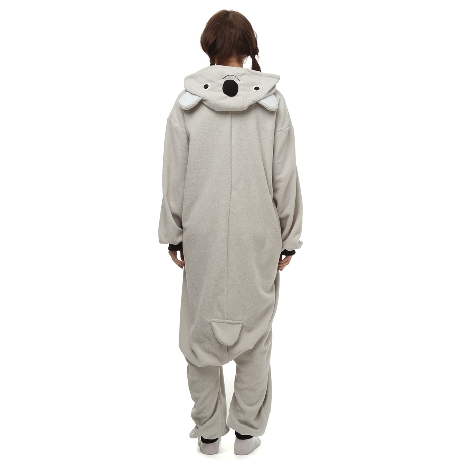 Kigurumi-Anime-Cosplay-Costume-Grey-Koala-Animal-Onesie-Pajama-Halloween