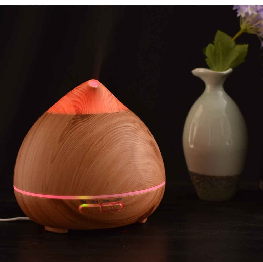 Air  Purifier LED Color change Diffuser Aroma Lamp Aromatherapy Electric Aroma Diffuser Mist Maker for Home-Wood<br>