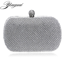 YINGMI Luxury Diamond Evening Bags Classic Rhinestone Day Clutch For Lady Recommend for Everyone Gold/Silver/Black Crystal Bag()