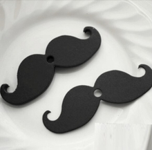 Promotion! Retail 100 Pcs/Lot Black Muctache With 0.6cm Hole DIY Decoration For Party Paper Straw Photo Props(China)
