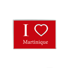 Refrigerator Magnet Sticker, I Love Martinique, High-Quality  Acrylic Souvenir Magnet