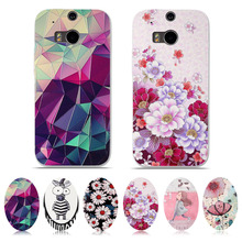 For HTC One M8 M8S Case Cover Soft TPU Silicone Fundas For HTC M8 M8S Case 3D Relief Coque For HTC M 8/M 8S 5.0'' Phone Cases