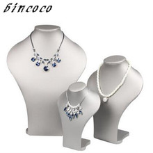 bincoco three sizes jewelry display holders Necklace display Bust Pendant Neck holder Mannequin JJewelry counter showcase props