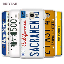 BINYEAE funny License plate number Cell Phone Case Cover for Samsung Galaxy J1 J2 J3 J5 J7 C5 C7 C9 E5 E7 2016 2017 Prime(China)