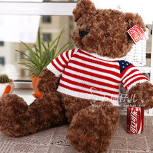 stuffed animal lovely teddy bear 45cm sweater bear plush toy soft doll gift w2450