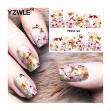 YZWLE 1 Sheet DIY Decals Nails Art Water Transfer Printing Stickers Accessories For Manicure Salon YZW-8145(China)