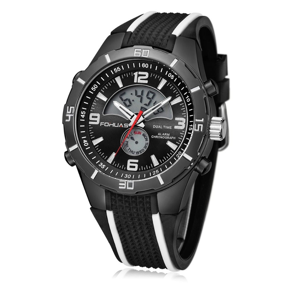 FOHUAS Sport Wrist Watch Mens Military Waterproof Watches Fashion Silicone Digital Watch Men Wristwatches Clock Male ws1221-3<br><br>Aliexpress